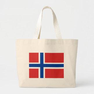 Beställnings- norsk flagga (Norske Flagg) Jumbo Tygkasse
