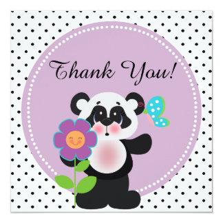 Beställnings- Pandabjörn för förtjusande baby Fyrkantigt 13,3 Cm Inbjudningskort