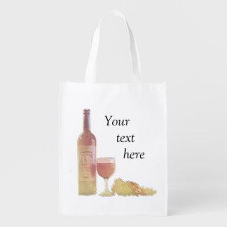 Beställnings- pastellfärgat vin återanvändbar påse