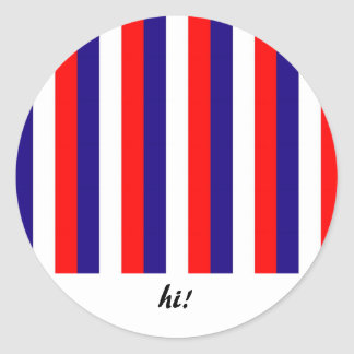 Beställnings- patriotiska remsaklistermärkear runt klistermärke