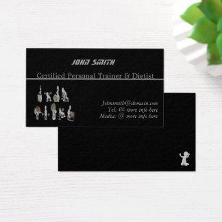 Beställnings- personlig instruktör/Dietist Visitkort