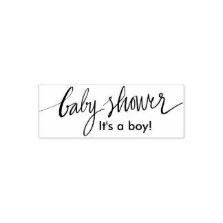 Beställnings- pojke- eller flickababy showersjälv självfärgande stämpel