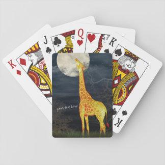 Beställnings- poker för giraff som och för måne | casinokort