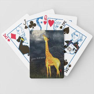Beställnings- poker för giraff som och för måne | spelkort