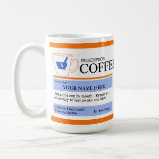 Beställnings- receptkaffemugg vit mugg