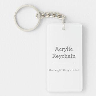 Beställnings- rektangulära Keychain Nyckelring