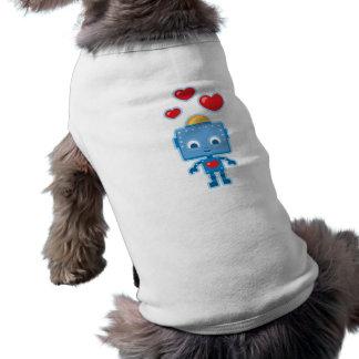 Beställnings- Retro robotkonstpersonlig Långärmad Hundtöja