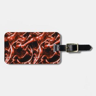 Beställnings- röd elektrisk bagagemärkre bagagebricka