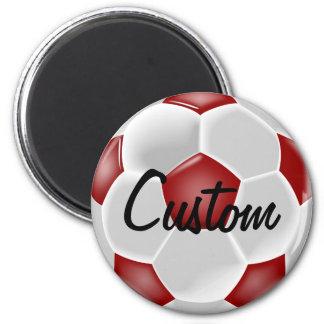 Beställnings- röd fotbollbollmagnet magnet