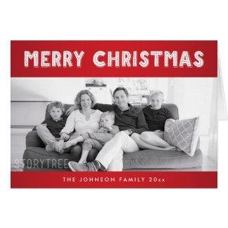 Beställnings- röda god julhälsningkort hälsningskort