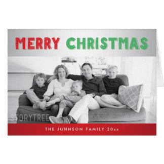 Beställnings- röda kort för silvergod julhälsning