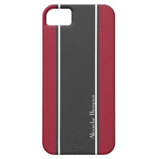 Beställnings- röda och svart tävlings- randar barely there iPhone 5 fodral
