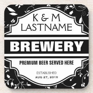 Beställnings- rolig hem- bryggareöl undertecknar glas underlägg