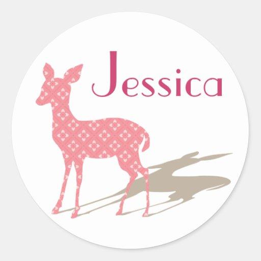 Beställnings- rosa Bambi klistermärke