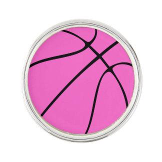 Beställnings- rosa basket kavajnål