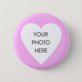 Beställnings- rosa hjärtagräns… - skräddarsy standard knapp rund 5.7 cm