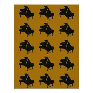 Beställnings- Scrapbook för piano för Brevhuvud