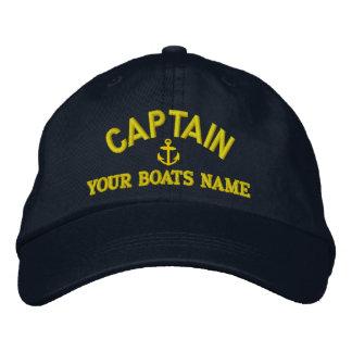 Beställnings- seglingkaptener broderad keps