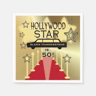 Beställnings- servetter för papper för Hollywood