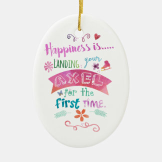 Beställnings- skridsko för lycka för julgransprydnad keramik