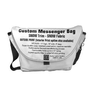 Beställnings- SNÖklippning för messenger bag (M),
