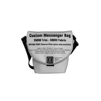 Beställnings- SNÖklippning för messenger bag (S),
