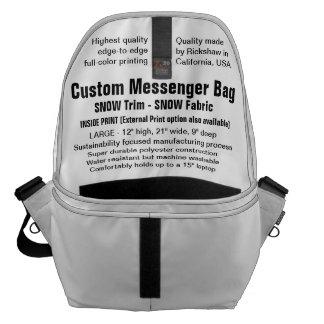 Beställnings- SNÖklippning för messenger bag (v),
