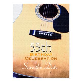 Beställnings- spara för Folk gitarr den 55th Vykort