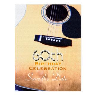Beställnings- spara för Folk gitarr den 60th Vykort