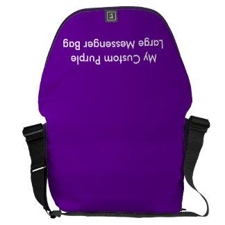 Beställnings- stor messenger bag - lila
