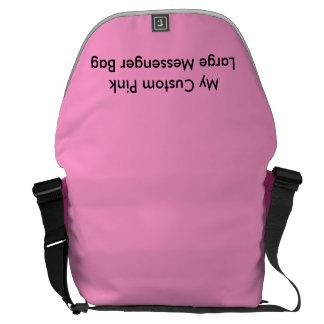 Beställnings- stor messenger bag - rosa