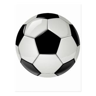 Beställnings- svartvit fotbollboll vykort
