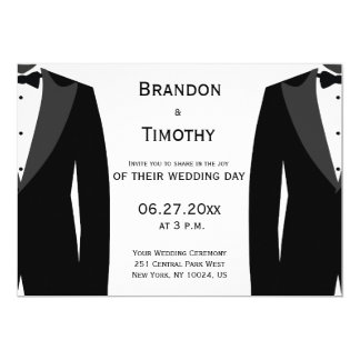 Beställnings- svartvita glada bröllopinbjudningar 12,7 x 17,8 cm inbjudningskort