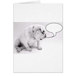 beställnings- tal bubblar bulldoggen hälsningskort