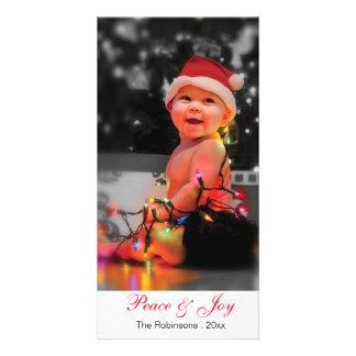 """Beställnings- text 8"""" för gullig baby x 4"""" jul fotokort"""