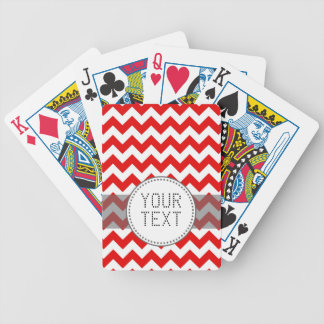 Beställnings- text eller Monogram på röda sparrar Spelkort