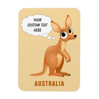 Beställnings- textmagnet för gullig känguru magnet