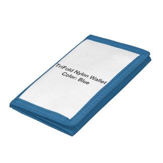 Beställnings- TriFold nylonplånböcker (blått)