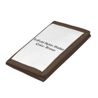 Beställnings- TriFold nylonplånbok (bruntet)
