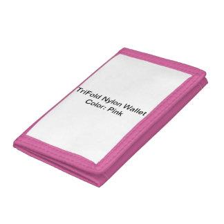 Beställnings- TriFold nylonplånbok (rosor)