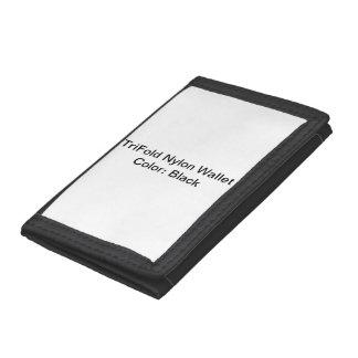 Beställnings- TriFold nylonplånbok (svarten)