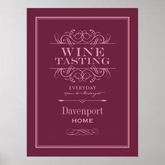 Beställnings- tryck för vinavsmakningkonst - hem-