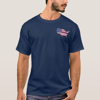Beställnings- tunn blålinjenUSA karta Tee Shirts
