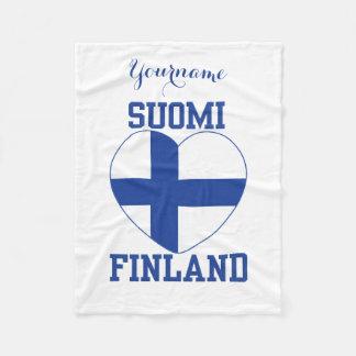 Beställnings- ullfilt för SUOMI FINLAND Fleecefilt
