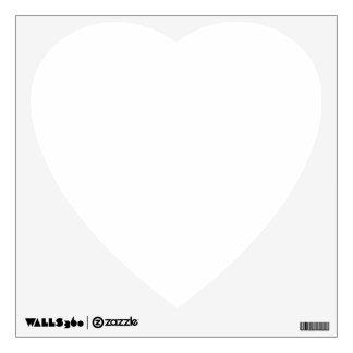 Beställnings- väggdekalhjärta