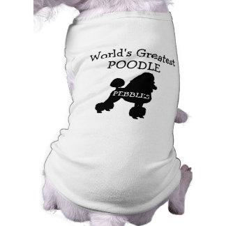 Beställnings- världsstörstapudel hund tshirt