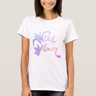 Beställnings- vattenfärgT-tröja för vildblomma T-shirt
