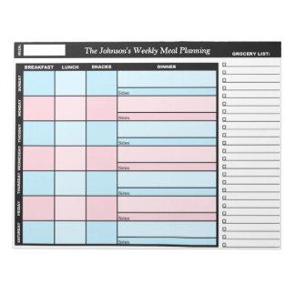 Beställnings- veckomål för blått som & för rosor anteckningsblock