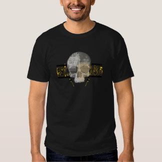 beställnings- vintageröntgenstråleutslagsplats t-shirts
