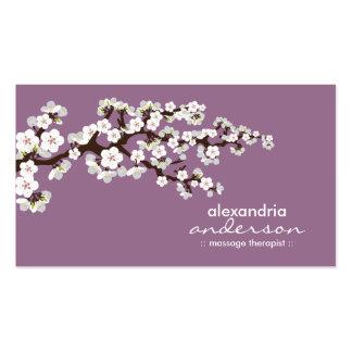 Beställnings- visitkortar för körsbärsröd blommar  set av standard visitkort